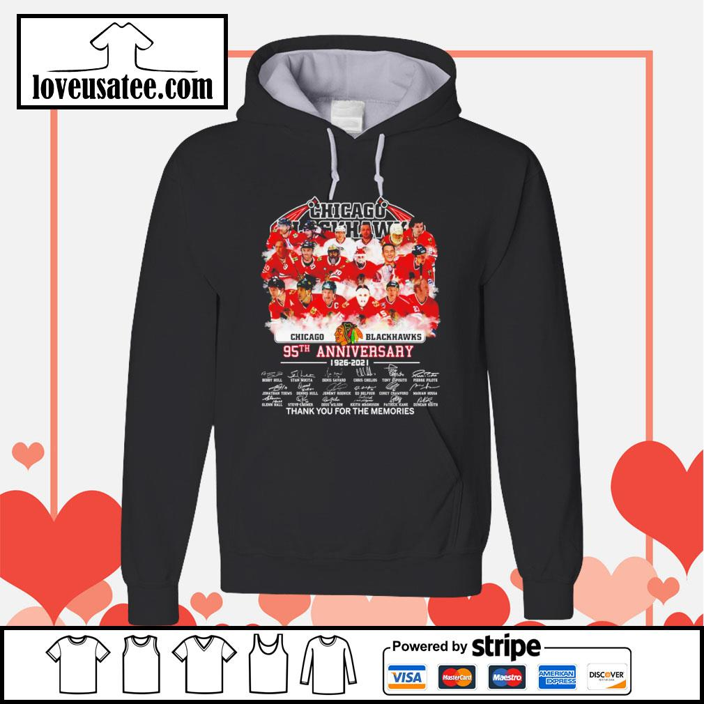 Chicago Blackhawks 95th anniversary thank you for the memories signatures Hoodie