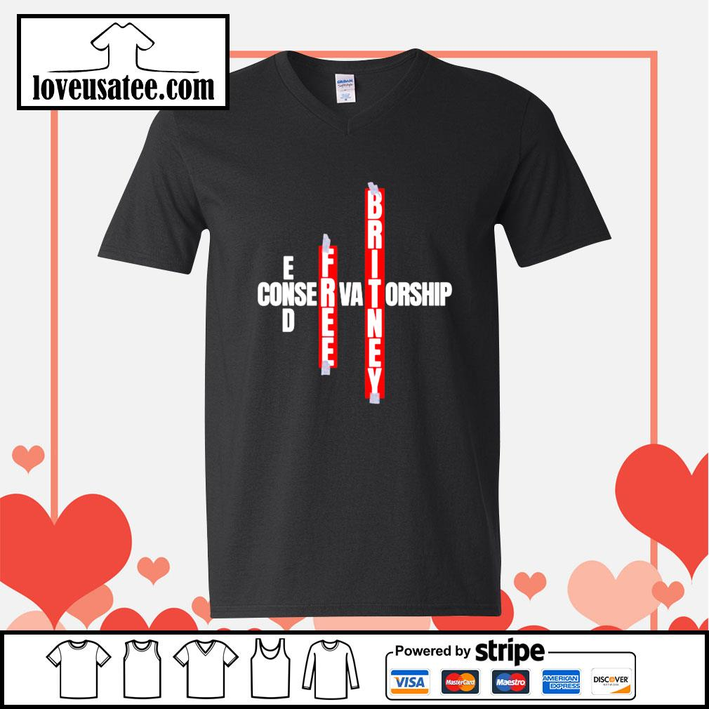 End free britney conservatorship V-neck-T-shirt