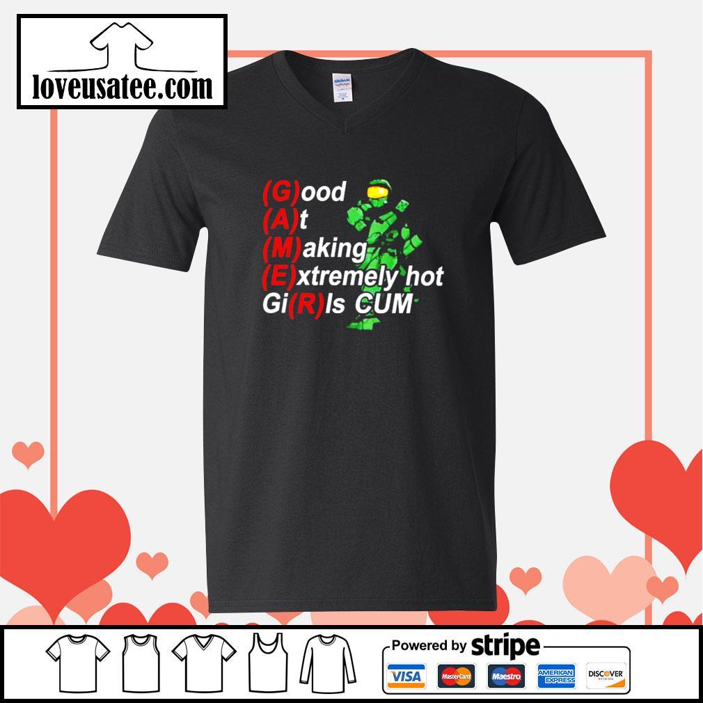 Gamer Good at making extremely hot girls cum V-neck-T-shirt