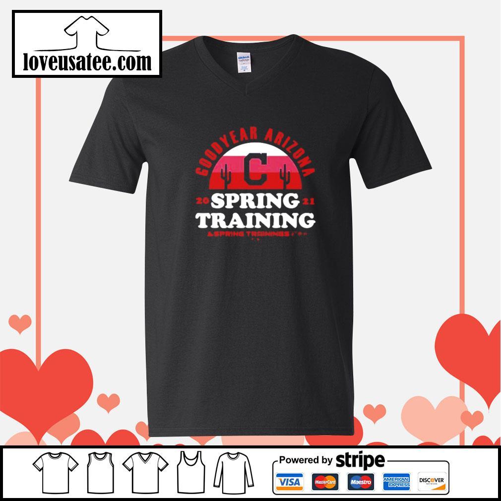 Goodyear Arizona 2021 spring training Cleveland Indians V-neck-T-shirt
