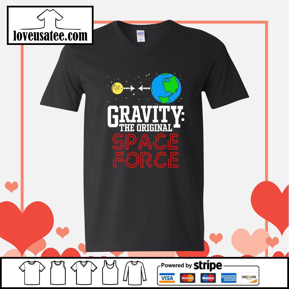 Gravity the original space force V-neck-T-shirt