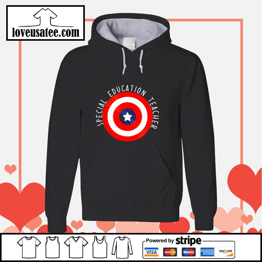 Captain america shield special education teacher s hoodie