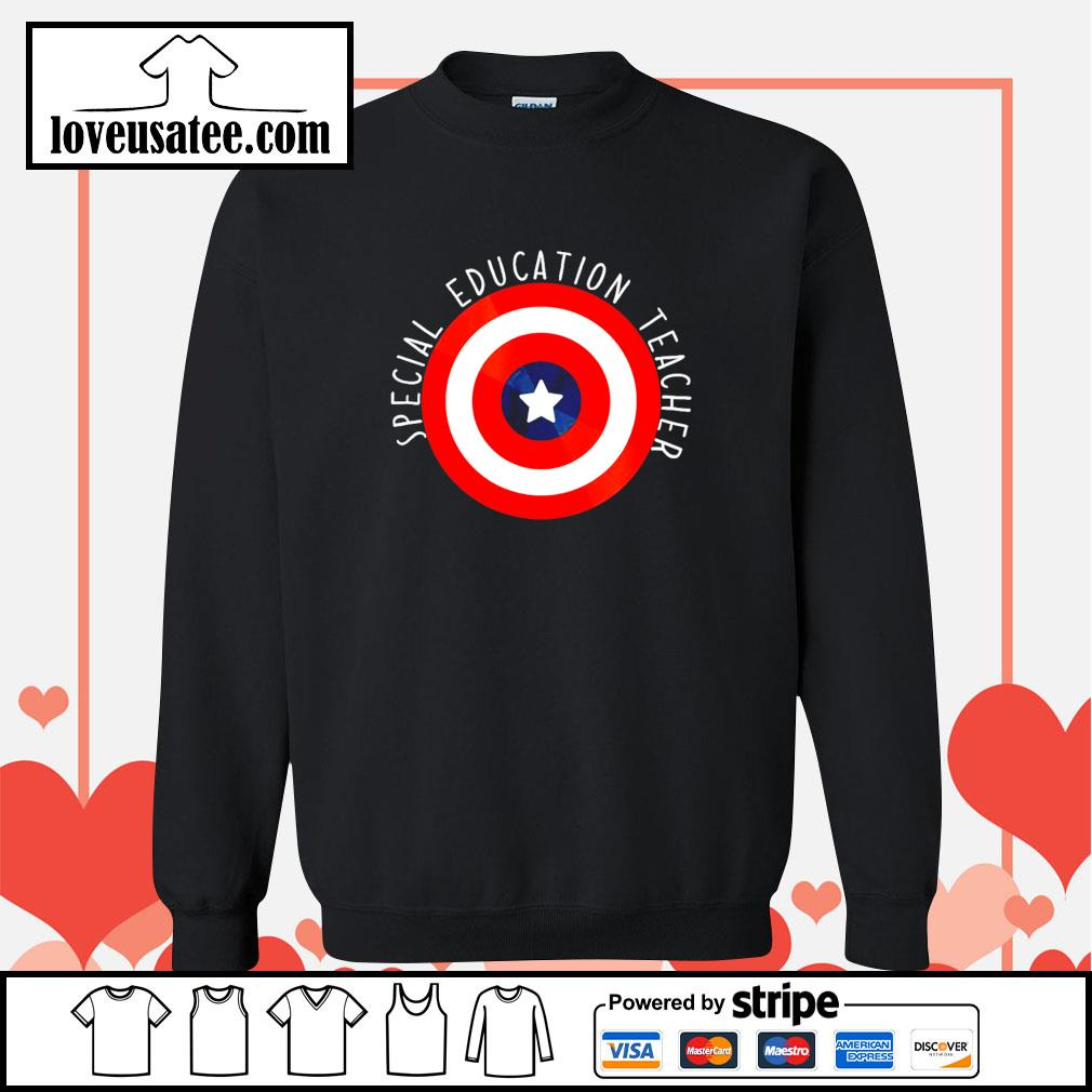 Captain america shield special education teacher s sweater