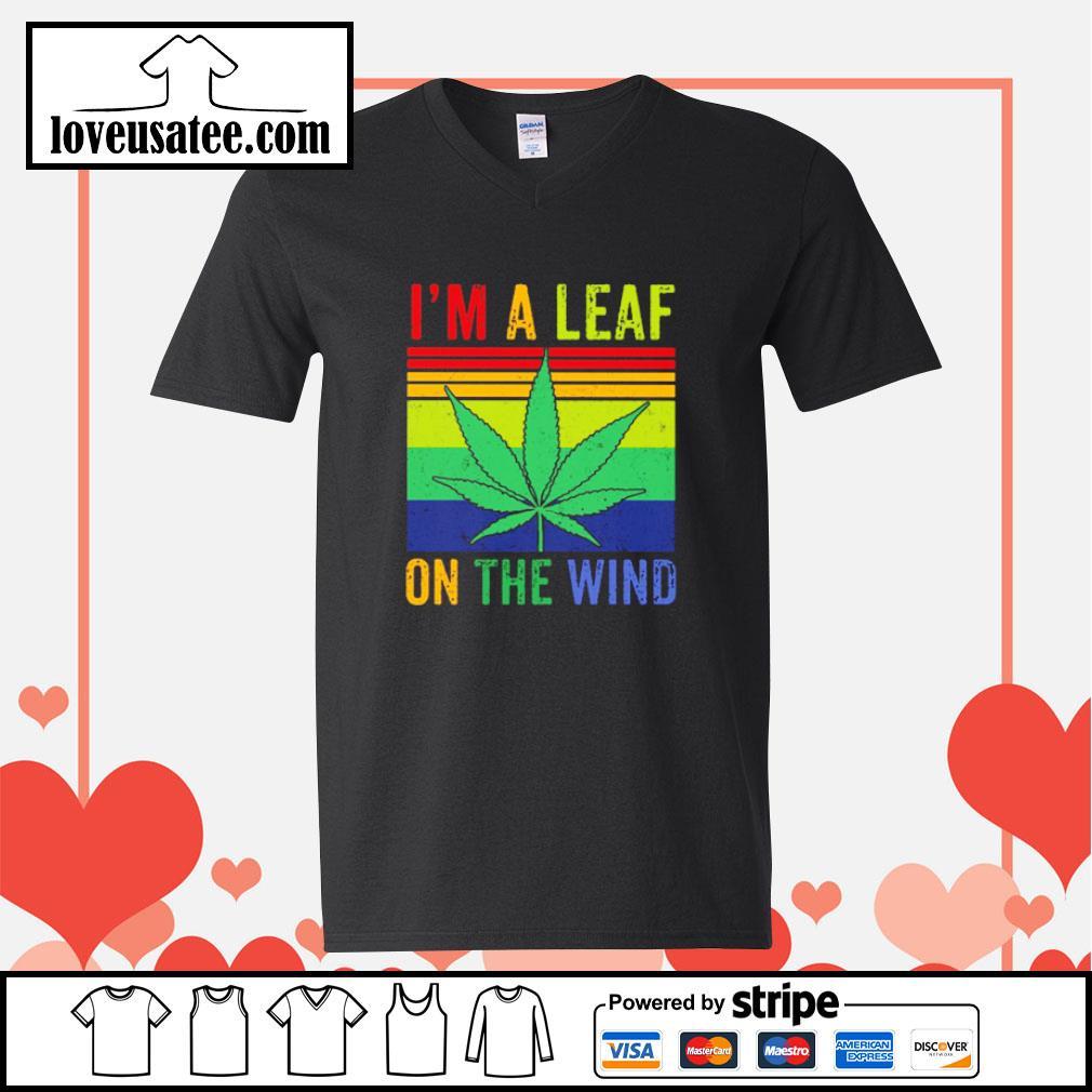 I'm a leaf on the wind weed vintage s v-neck-t-shirt