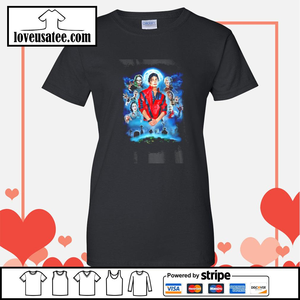 Michael jackson thriller tribute s ladies-tee
